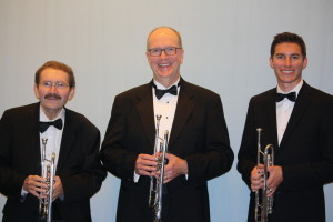 Kelly Bussell, Mac Fry, and Logan May, trumpet soloists